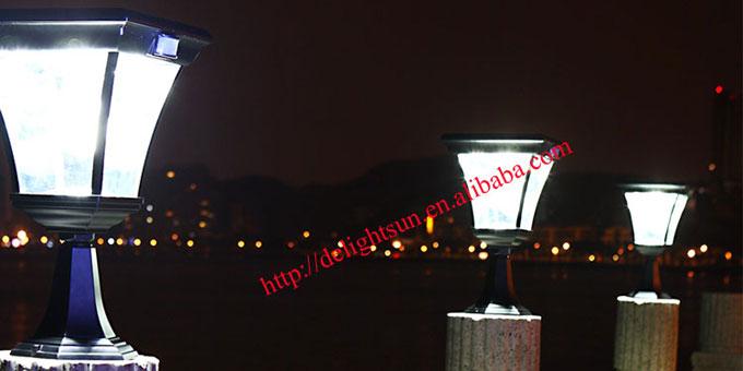 Pir solar post light