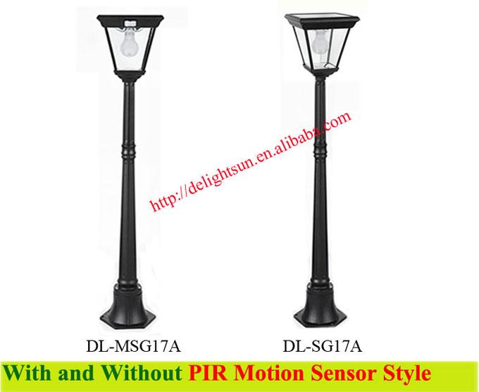 PIR solar garden road light