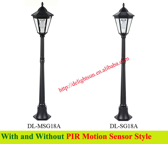 PIR solar garden light