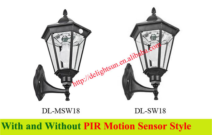 motion sensor solar wall mounted light