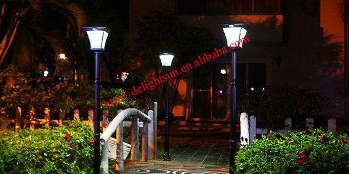 PIR 红外线太阳能庭院灯