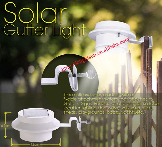 LED 太阳能屋檐灯