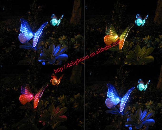 太阳能光纤蝴蝶地插灯