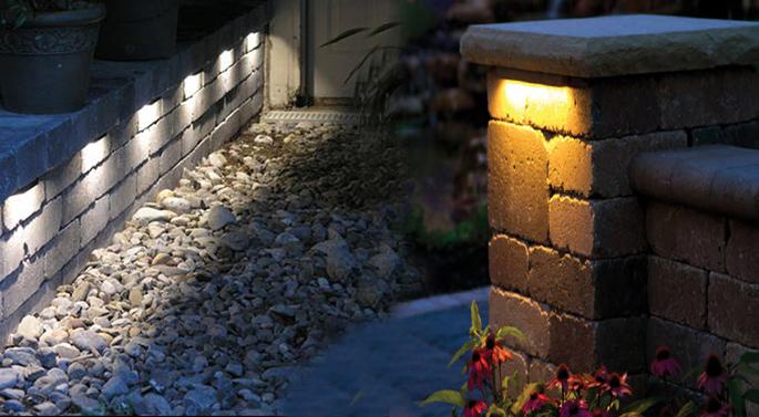 led retaining wall light