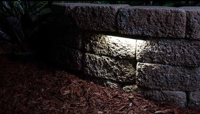 hardscape wall light